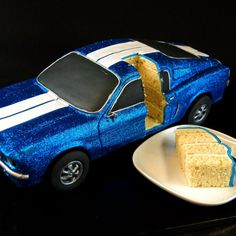 50th anniversary ford mustang collaboration by Gilles Le Blanc | http://www.cake-decorating-corner.com/