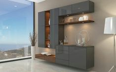 Interior Design is the art and science of understanding people's behavior to create functional spaces within a building. Crockery Cabinet, Dining Cabinet, Living Room Wall Units, Living Room Tv Unit Designs, Dining Room Table Decor, Dining Room Design, Modern Tv Wall Units, House Furniture Design, Muebles Living