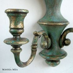 Magia Mia: Before and After.....Chalk Painted Candle Sconces