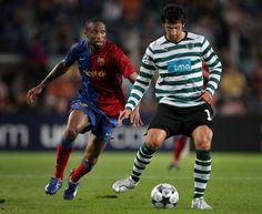 Barcelona+v+Sporting+Lisbon+UEFA+Champions+Marco Caneira do Sporting