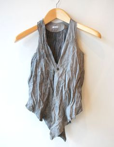 Abejas Boutique - Hazel Brown Waxed Vest Grey
