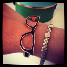 Kate Spade glasses bangle. Our Rep wears this everyday and it's too cute!