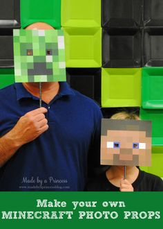 Planning a big Minecraft party? We have found all the best ideas for the ultimate Minecraft party of all time - find your inspiration here. Minecraft Decoration, Minecraft Crafts, Party Decoration, Birthday Decorations, Minecraft Party Supplies, Minecraft Birthday Party, Minecraft Party Games, Minecraft Mask, Minecraft Skins
