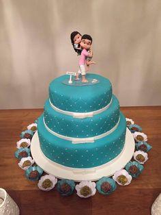 Topo de bolo noivado