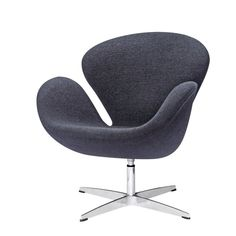 Fine Mod Imports Arne Jacobsen Swan Chair In Black Wool Dining Room Chair Cushions, Balcony Table And Chairs, Used Chairs, Ikea Chair, Eames Chairs, Diy Chair, Chair Fabric, Wool Fabric, Swivel Rocker Recliner Chair