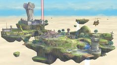 Skyloft stage in Smash Bros Wii U - full view HD -SO EXCITED!!