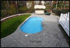 Pool Warehouse offers all shape and size swimming pool kit styles. We've been selling inground pool kits and swimming pool liners online for over 15 years! Small Inground Swimming Pools, Swimming Pool Prices, Inground Pool Designs, Swimming Pool Landscaping, Pools For Small Yards, Small Backyard Pools, Backyard Patio, Small Fiberglass Pools, Pool Kits