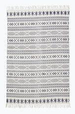 Ellos Home Bomullsmatta Charleston 170x240 cm Grå, Mörkblå - Bomulls- & trasmattor | Ellos Mobile