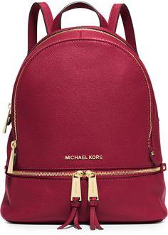 MICHAEL Michael Kors Rhea Small Leather Zip Backpack, Cherry   ✈️✈️✈     <>   @kimludcom  <>     http://bit.ly/1d9Uqiv   <>  1)  http://bit.ly/1mNYKPO   <>  2)   http://bit.ly/1N1Qnvc   <>  3) http://bit.ly/1i8TsfX   <>  4)