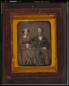 [Unidentified man and woman, full-length portrait, seated] | Library of Congress