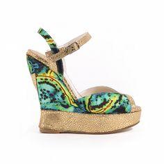 Izzy Print Gold - Terry de Havilland | Designer Luxury Shoes & Bags