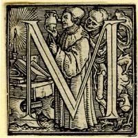 Holbein Alphabet 1526: Initial M