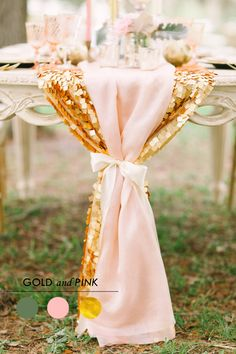 pink and gold wedding decorations - Google Search