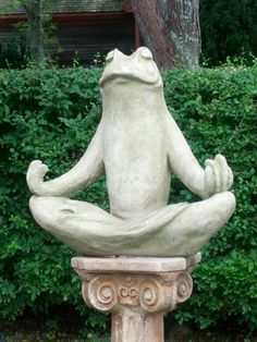 Cape Cod zen frog in Brewster.