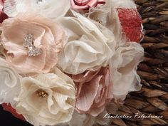 Handmade Fabric Flower Bouquet // Alternative Bouquet // Romantic // Wedding // Vintage  Unique, wedding bouquets made on demand by Konstantina! We ship worldwide. We accept payments via PAYPAL, Visa or bank transfer.