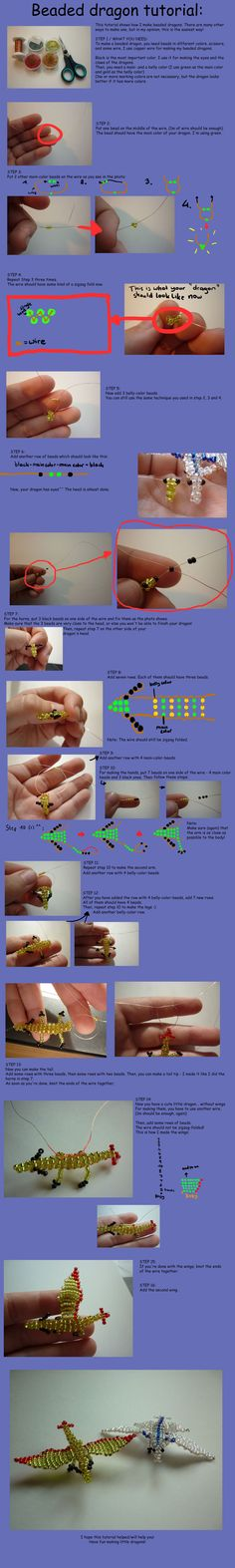 Beaded dragon tutorial.