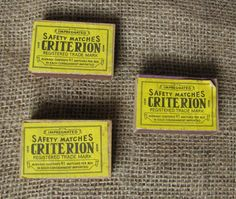 Vintage USSR Soviet CRITERION MATCHBOX w/ Impregnated Safety Matches