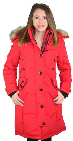 Canada Goose jackets sale cheap - Canada Goose Montebello Parka Red Women's Coat | Mz sexxy Libra ...