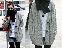 winter sweaters for women | Winter Fashion Women's Cardigan Sweater Long Sleeve Hoodie coat trench ...