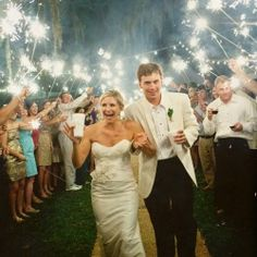 Advice and tips on pulling off the perfect sparkler exit without a hitch - with lots of gorgeous examples! {Photo credit: Pure 7 Studios}