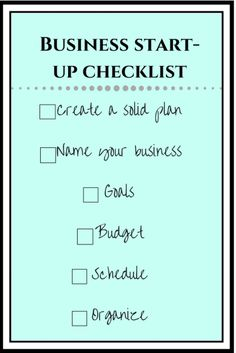 Business Start-Up Checklist Naming Your Business, Starting A Business, Top Blogs, Business Goals, Work From Home Moms, How To Get Rich, Make More Money, Dream Job, Counseling