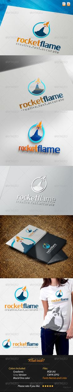 Rocket Flame Creative Fast Accurate  - Logo Design Template Vector #logotype Download it here: http://graphicriver.net/item/rocket-flame-creative-fast-accurate-logo/4245877?s_rank=1394?ref=nexion