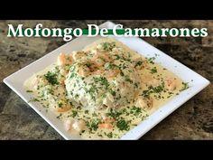 Cómo Hacer Un Mofongo De Camarones En Salsa De Queso - YouTube Potato Salad, Potatoes, Chicken, Meat, Ethnic Recipes, Food, Youtube, Cheese Sauce, Sauces