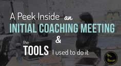 Video of an Initial Coaching Meeting plus Resources