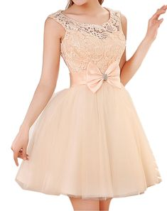 Champagne Lace a-line prom dress short bridesmaid dresses evening party gown new arrival