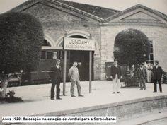 Anos 1920: Baldeação na estação de Jundiaí para a Sorocabana. O nome está Ytuana, mas esta não existia desde 1905. Ficou o nome até a extinção desse ramal em 1972. — com Maria Helena S Ribeiro, Guilherme Nascimento, Rita Ribeiro e Cesar Cesar Moraes.