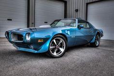 71 blue Pontiac Trans Am