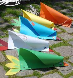 DIY Simple bird kite - fun and easy paper craft for kids // Vicces reptethető madár (papírsárkány) papírból egyszerűen // Mindy - craft tutorial collection