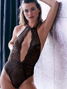 fffa06e1ef Limited Edition Fishnet  amp  Lace Garter Slip - Very Sexy - Victoria s  Secret Behati Prinsloo