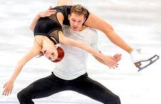 Ekaterina Bobrova and Dmitri Soloviev perform their Free Dance at the 2017 World Figure Skating Championships. Olympic Ice Skating, Golden Skate, Athletic Events, World Figure Skating Championships, Ice Skaters, Ice Dance, Sports Figures, Leotards, Gymnastics