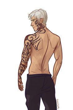 Rowan Short Hair by taratjah.deviantart.com on @DeviantArt only bad part is his tattoos go down farther than that