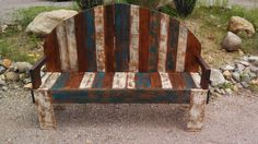 rustic/country pallet bench op Etsy, 262,66 €