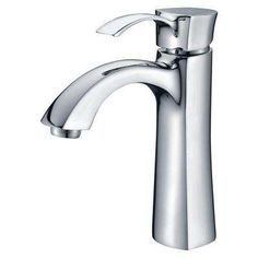Rhythm Series Single Hole Single-Handle Mid-Arc Bathroom Faucet in Polished Chrome