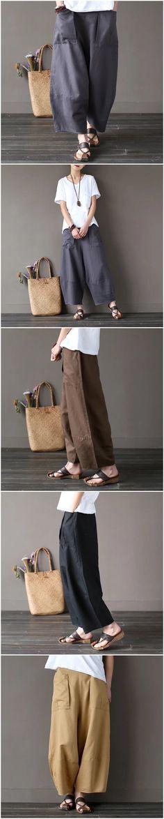 Coffees corduroy width leg pants women's trousers