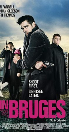 """In Bruges"": Colin Farrell and Brendon Gleeson .- ""In Bruges"": Colin Farrell and Brendon Gleeson . Bruges, Brendan Gleeson, Comedy Movies, Hd Movies, Movies Online, Movies 2019, Movie Tv, Ralph Fiennes, Live Action"