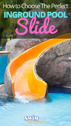 You don't need to leave your for a trip down a Like a good diving board, a high-quality slide can be the perfect add-on to your pool. All you have to do is find the right fit for your pool, and backyard, and your sense of ideas with slide and diving board
