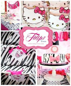 #Hello #Kitty #Themed #Party #Decoration #Ideas by: http://www.thematicbirthdayplanner.com/