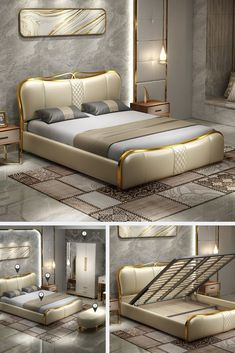 Luxury Bedroom Design, Bedroom Bed Design, Bedroom Furniture Design, Bed Furniture, Living Room Tv Unit Designs, Bedroom Cupboard Designs, Teen Bedroom Designs, Bed Headboard Design, Bed Frame Design