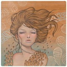 """""""Tangled"""" show @ Outre Gallery by Audrey Kawasaki on http://www.freshcharacters.com"""