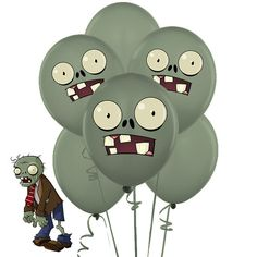 INSTANT DOWNLOAD Zombies Balloons Stickers Plants by sohappyshop Zombie Birthday Parties, 5th Birthday Party Ideas, Halloween Birthday, Party Themes, Kids Zombie Party, 7th Birthday, Plants Vs Zombies, Zombies Vs, Plantas Versus Zombies