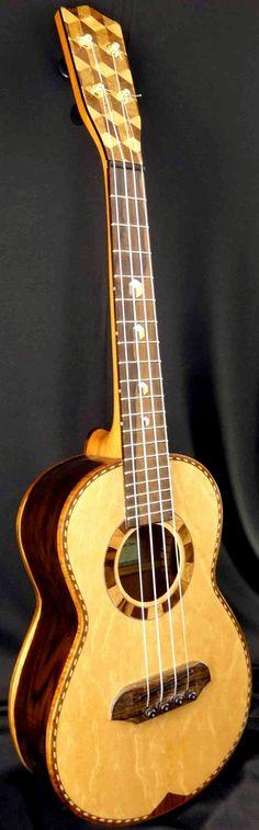 lardyfatboy: =Lardys Ukulele of the day - a year ago JC Clark Tenor ==Lardys… Ukulele Art, Cool Ukulele, Guitar Musical Instrument, Tenor Ukulele, Ukulele Songs, Cool Guitar, Banjo, Acoustic Guitar, Musical Instruments