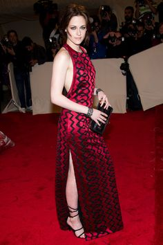 We Finally Did It: R29 & StyleList Pick Kristen Stewart's Best Looks EVER #refinery29  http://www.refinery29.com/kristen-stewart-style#slide3  Serious fashion critics were shocked when Stewart showed up at the 2011 Met Gala in this ultra-chic Proenza Schouler dress. She developed a relationship with the designers after they dressed her for her Vogue profile, but she rocked the Angelina leg before it was cool. And the halter cut of the back? A+. Photo: Charles Sykes/Rex USA.