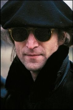 John Lennon. wanted to see side by side with Noah Wiley. Lennon wearing sunglasses