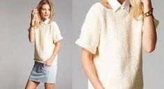 Idéal pour les jours d'été un peu capricieux, ce petit pull à manches courtes est tricoté avec un fil très doux, hyper agréable à porter. Suivez notre guide détaillé pour créer un ...