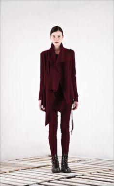 SHIN, AW11: burgundy. #shin #fashion