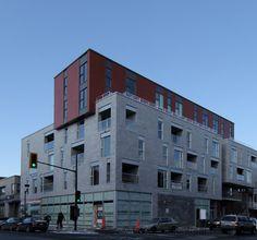 Via Dante Condo condos feature a pop of Parklex Facade. #brilliantbuildings #facade #design #parklex